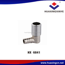Supplier promotional custom fittings 90 degree elbow plug HX-6841 brass threaded conversion pipe joint connector