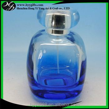 Luxe 100 Ml Carré Arrondi Bleu Bouteille De Parfum Avec Le Chapeau Rond Bouchon Buy Bouteille De Parfum Bleue,Bouteille De Parfum Carrée