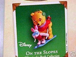 """Hallmark Keepsake Ornament – Winnie The Pooh """"On the Slopes"""" (Miniature Ornament) (2002) QXD4553"""