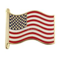 American Flag Cloisonne Patriotic Lapel Pin