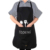 Ldeal for Kitchen Dishwashing Cleaning Painting Black 2 Pockets Chef Apron