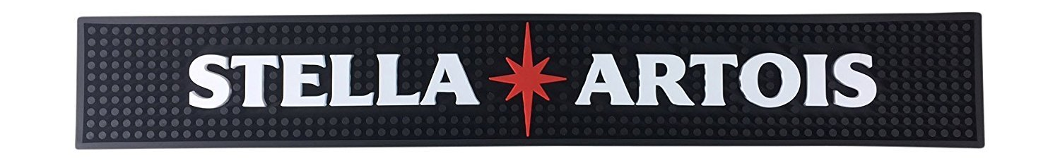 Budweiser Beer Spiced Rum Long Bar Mat Spill Mat Rail Drip Mat