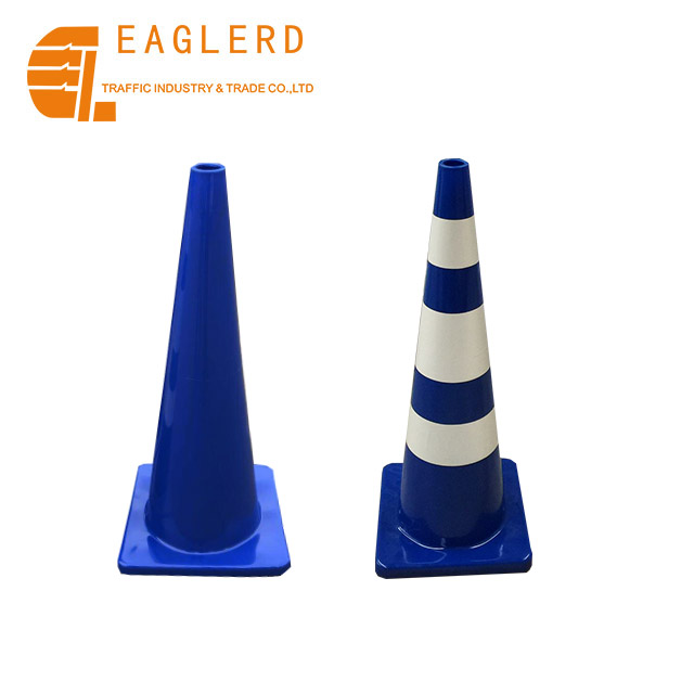 900mm Flexible Reflective PVC blue Traffic Cones