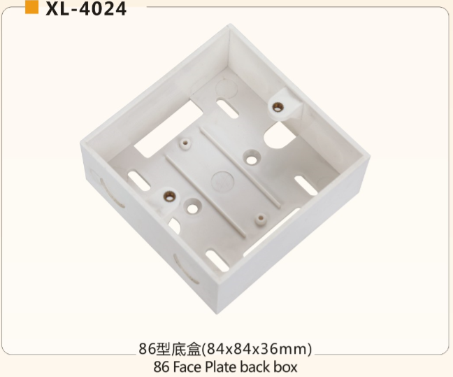 ANSHI can OEM 2 ports 86 x 86mm RJ45 RJ11 face plate with dust proof shuttle