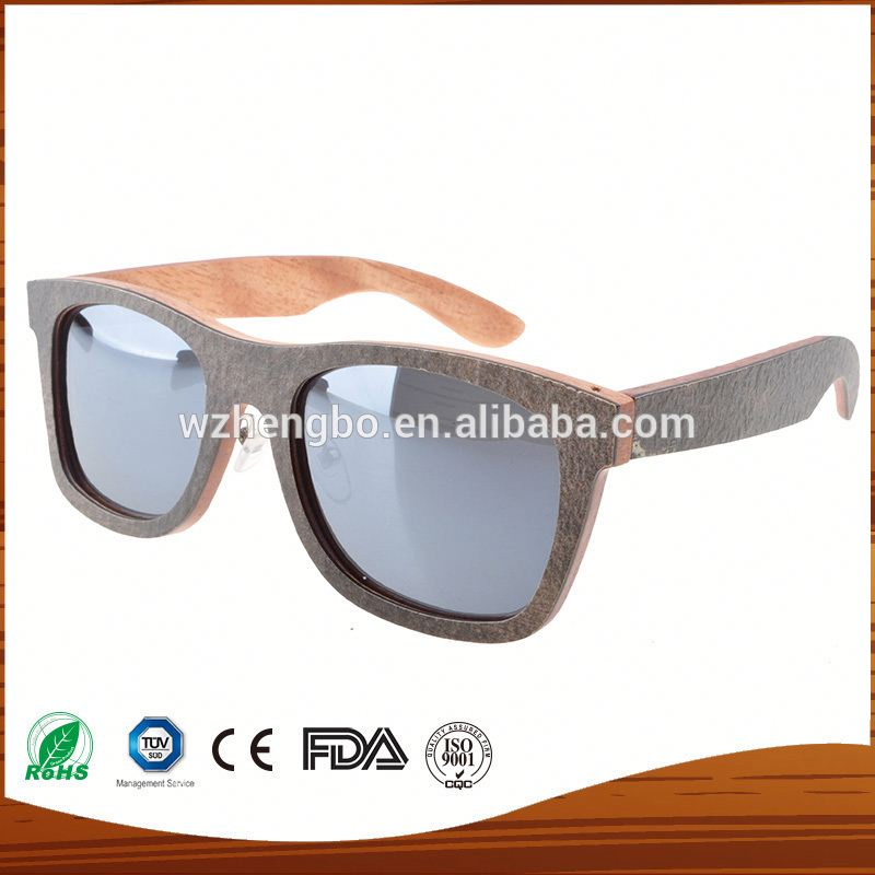 Women Fashion Wood Sunglasses Half Plastic Gradient Lens Sun ...