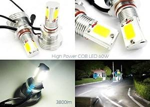 LEDIN 9006 HB4 High Power COB LED HL Dual Beam Headlight Bulb 7600lm 60W White