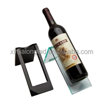 Black Acrylic Wine Rack Acrylic Liquor Bottle Storage Rack Wine Display Rack