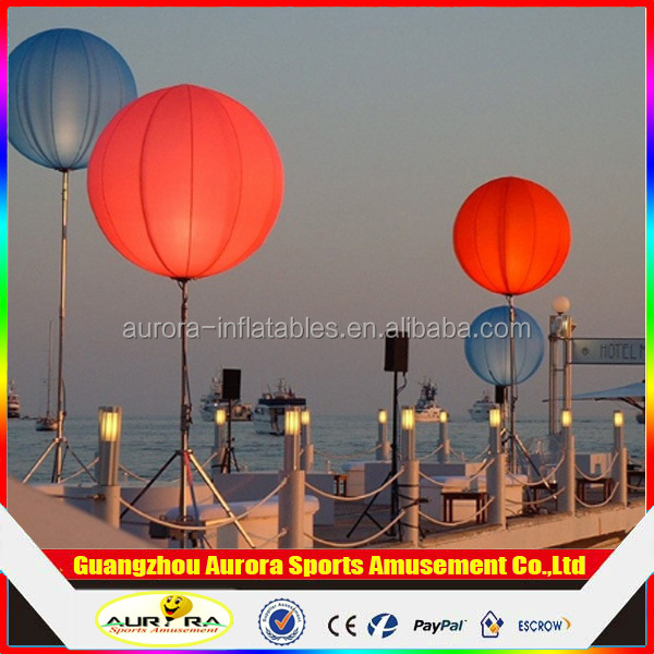 ball1.5m Diameter advertising inflatable outdoor light ballons, stand LED Balloon,halogen balloon for Concert or Action or Party