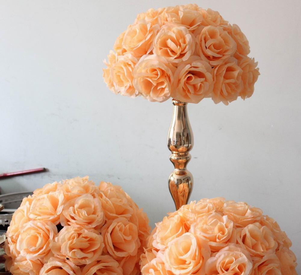 Artificial Flower Wedding Centerpieces: Free Shipping Peach Wedding Table Centerpiece Decoration