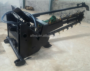 Tractor mounted good performance small trencher