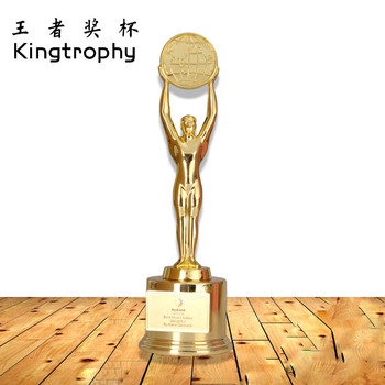 the wholesale oem metal figure trophy for film festival