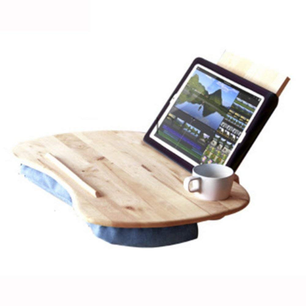 NAN Portable Handy Lap Top Computer Tray Holder Laptop Table Lazy Outdoor Learning Desk (Solid Wood) Folding Tables