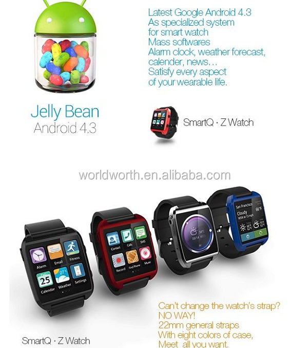 Smartq Z Watch 100 Original Z1 Smart For I Phone Galaxy Note3 Wifi Android 43