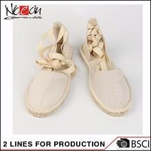 Custom White Canvas Shoes Wholesale , Hemp Rope Sandals