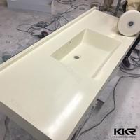 Pure White Artificial Quartz Stone Single Bowl USA Vanity Tops