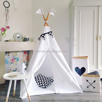 CE Approved Kids Indoor Play Tent Cotton Canvas Tipi Tent House for Children & Ningbo Love Tree Toy Co. Ltd. - child tent teepee