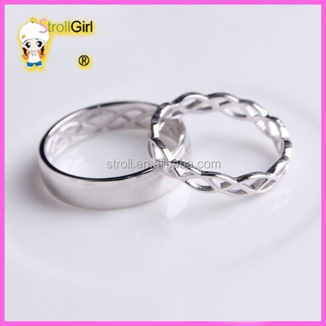 Hollow Gifts For Newly Married Couple Silver Rings Couple Rings For