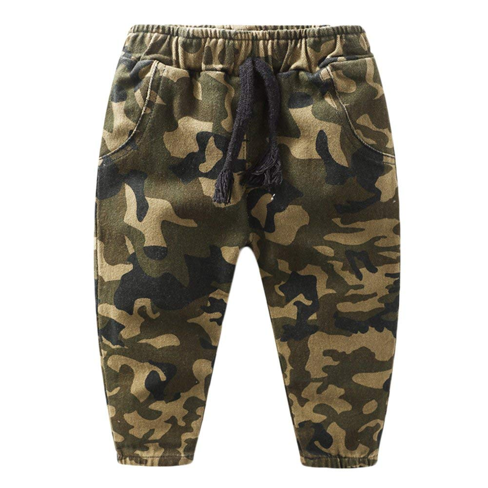Little Boys Camo Long Pants Joggers Sport Sweatpants Kids Outdoor Camouflage Athletic Pants
