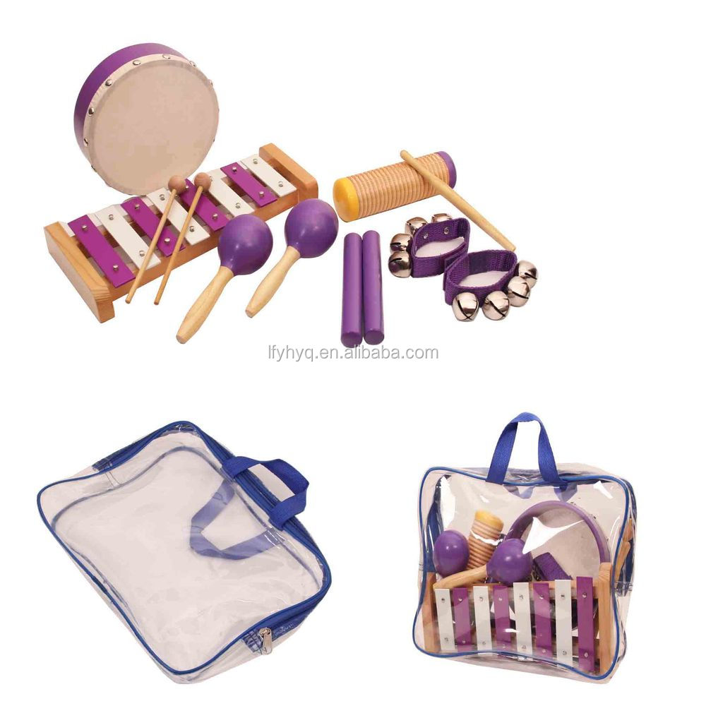 Factory direct sale kids musical instrument percussion set