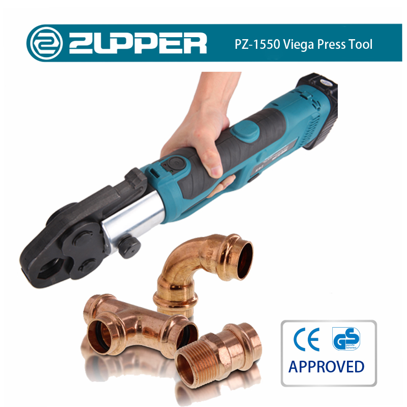 Zupper PZ-1550 battery power camping axial press fitting tool kit