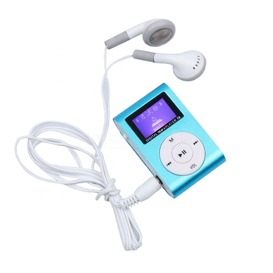 latest product Metal Mini Clip MP3 music Player With display Screen ,Mp3 Music player for mobile phone without TF card