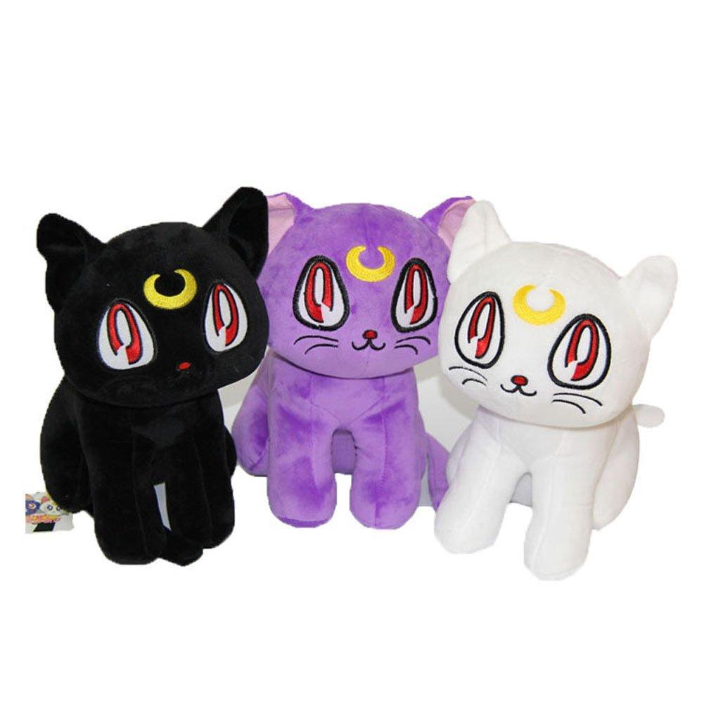 "Sailor Moon 12"" Pretty Soldier Luna Cat Stuffed Plush Toy Dolls"