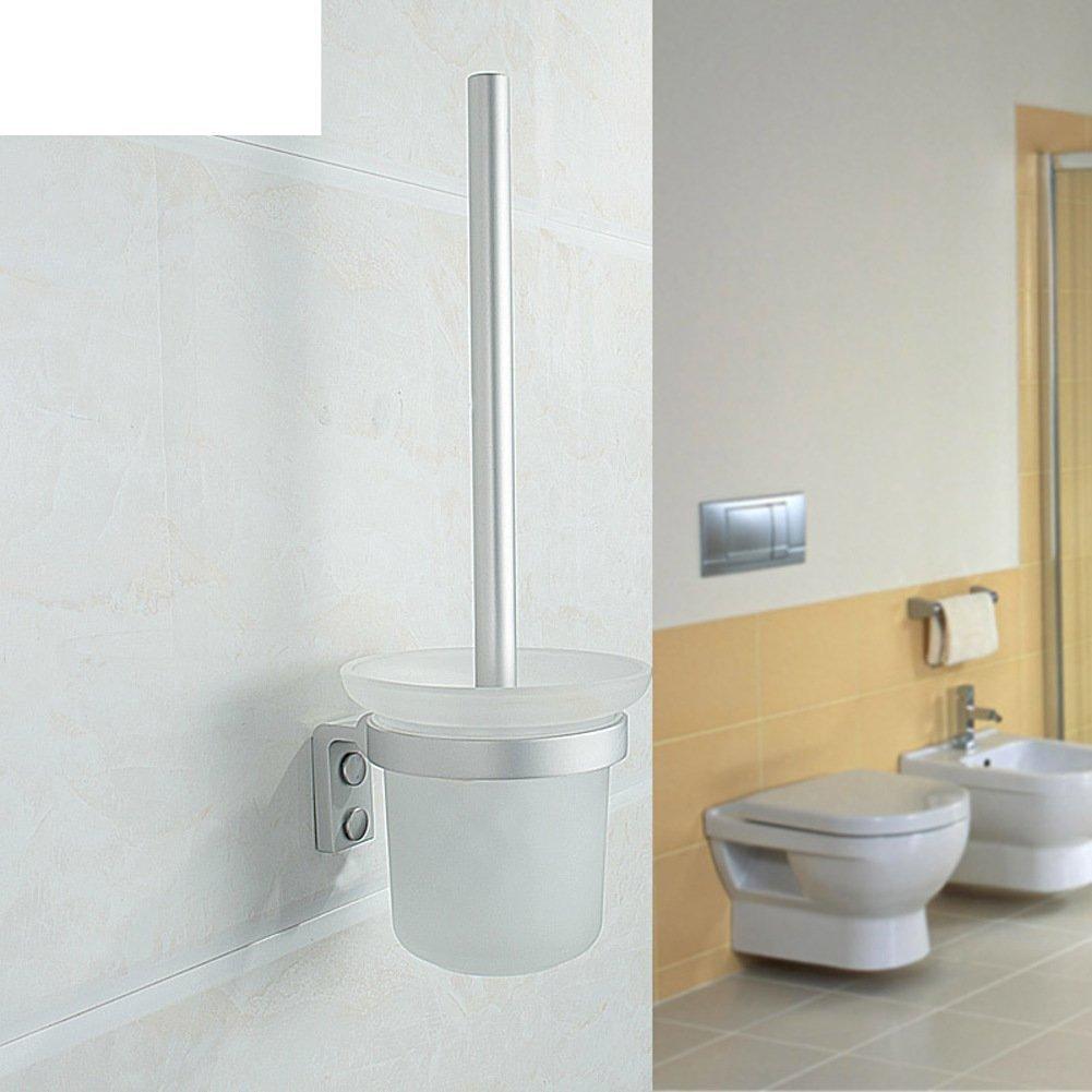 Toilet brush holder/Space aluminum toilet toilet brush set/Toilet brush holder/ toilet brush toilet bowl Cup