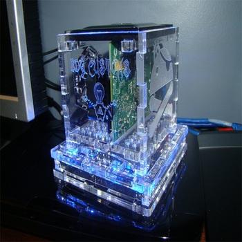Transparent Persepx Pc Computer Case Laser Cut Plexiglass Cube Box Custom  Engraved Acrylic Ouya Cases - Buy Custom Engraved Acrylic Ouya Cases,Laser