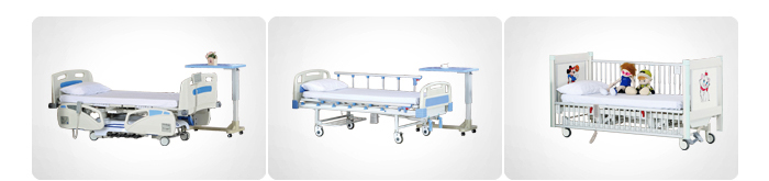 YFC011T CE Certification Flat Steel Hospital  Bed
