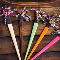 cross stitch embroidery women hair sticks cow-stone handmade hair decoration