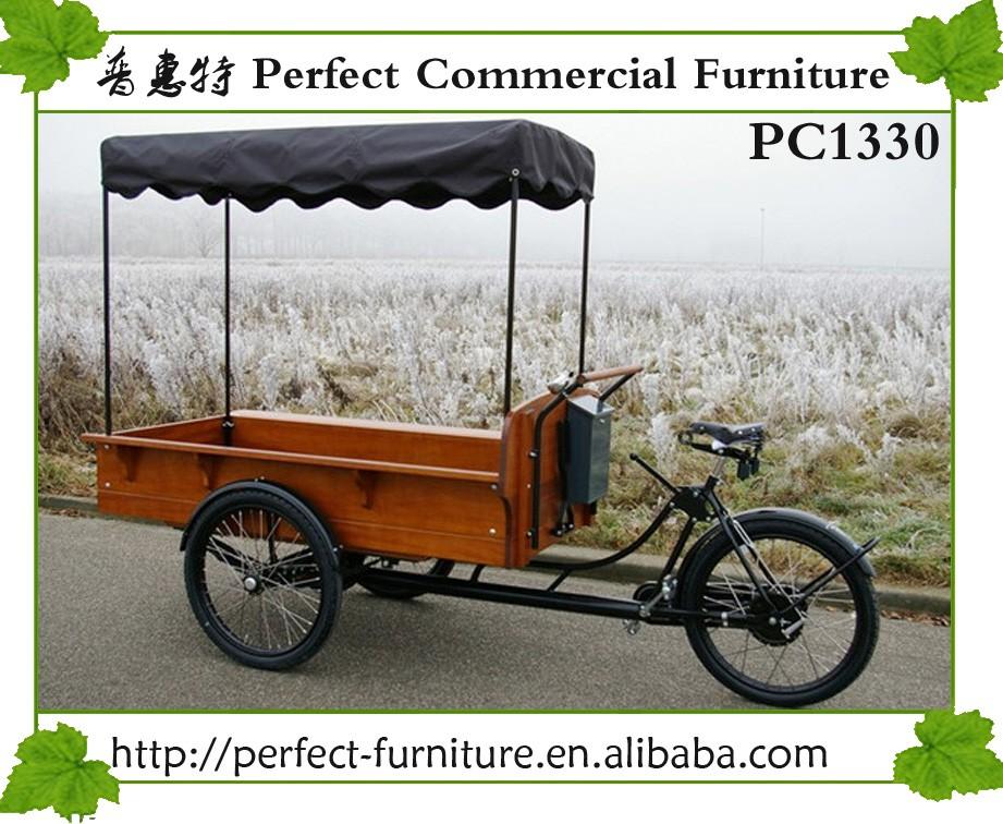 Solar Light Food Cart Flavor Churros Bicycle Food Truck