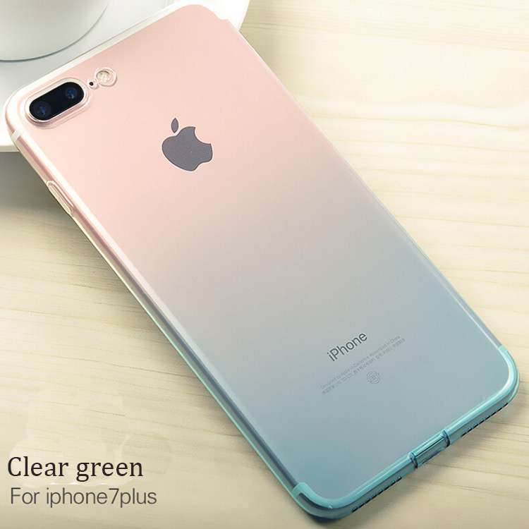 DFIFAN 2017 wholesale soft TPU material phone case for iphone 7 plus,clear mobile phone cover for iphone 7 plus case