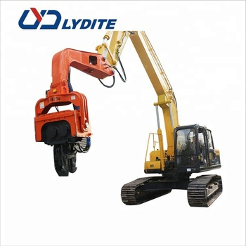 mini excavator sheet piling hammer equipment pile driving vibrators and pile driver for sale