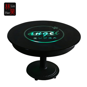 Modern Black White Metal Hotel Lobby Round Lounge Table
