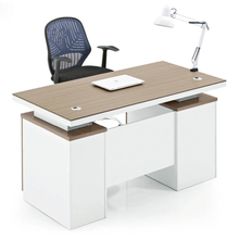 Simple Design Office Table Desktop Computer Desk With Cabinet And Drawer DF9604