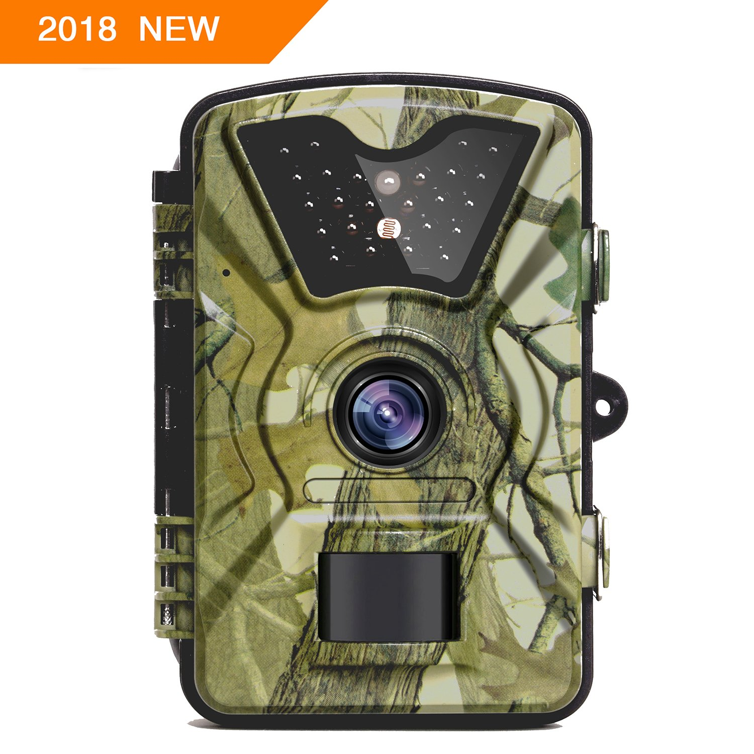 """【NEW VERSION】Trail Camera Trail Game Cameras 12MP 1080P 2.4"""" LCD Infrared Night Vision Hunting Camera with 24LEDs, Motion Sensor and 940nm IR LEDs , Up to 65ft/20m, 0.5s Trigger Speed, IP66 Waterproof"""