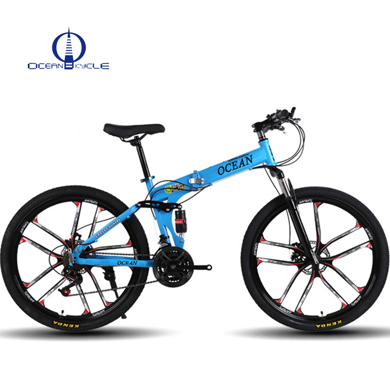 Alloy ten wheel Full suspension folding MTB soft tail downhill folding mountain bikes
