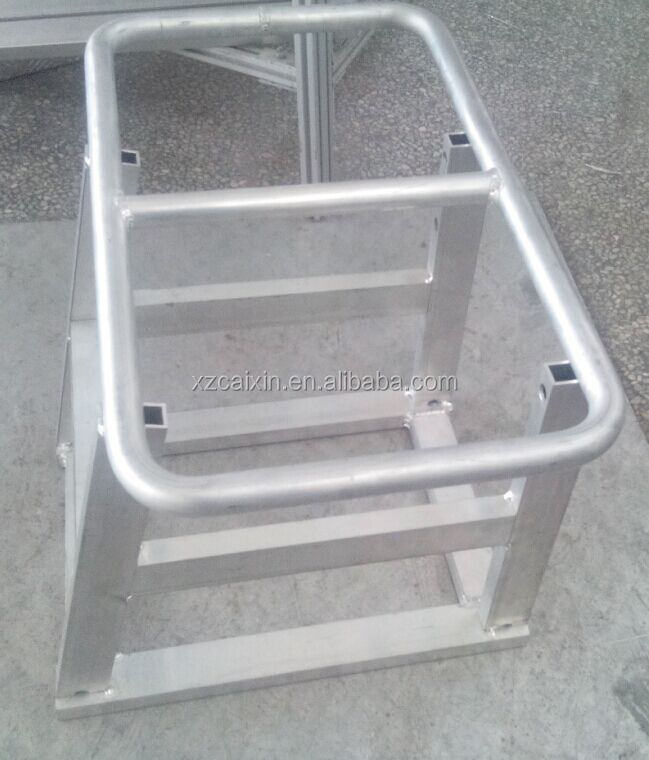 Small Aluminum Alloy Ladder Steps For Truck Alu Step Bench