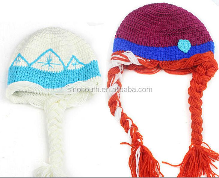 Invierno sombrero ganchillo bebé sombrero ganchillo congelados elsa ...