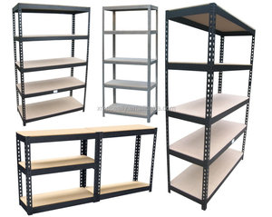 Steel Corrosion Protection Office Garage Warehouse/Store/Supermarket Storage Boltless Rivet Shelving