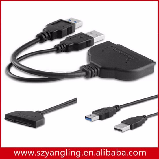 Usb 3.0 Male To Sata 22 Pin Converter Adapter Cable 2.5 Inch Usb ...
