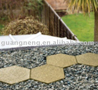 hexagonal rubber tile