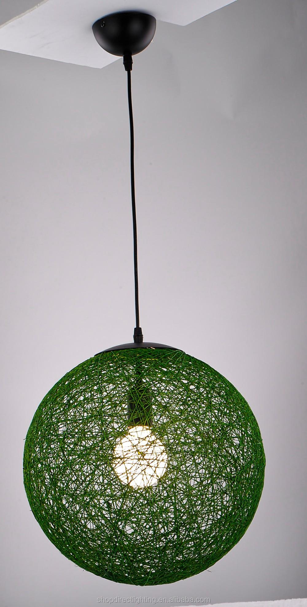 Easy Fit Modern Wicker Rattan Abaca Ball Ceiling Pendant Light ...