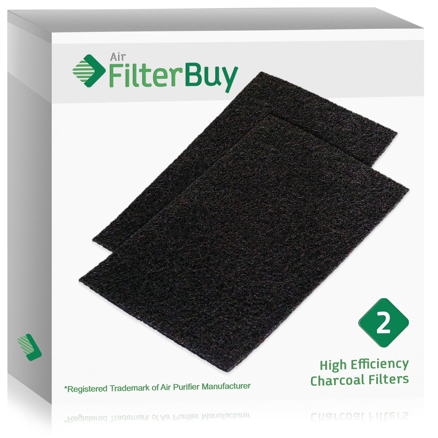 2 - FilterBuy Holmes HAPF60 (HPF600) Replacement Carbon Pre Filters, Filter C. Designed by FilterBuy to fit Holmes Harmony Air Purifiers.