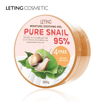 Leting cosmetics manufacture aloe vera soothing collagen snail gel cream
