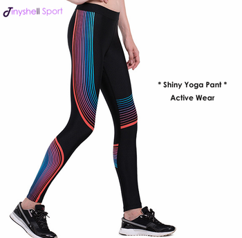 2d0360ae924213 Custom made shiny colorful printed push up women wholesale yoga pants nylon  spandex sport leggings