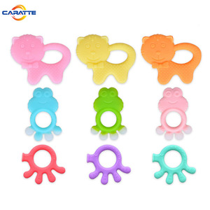 FDA approved soft animal shape baby teether silicone teething toy