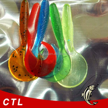 Artificial Bait For Fishing Lures For Worms with curly tails