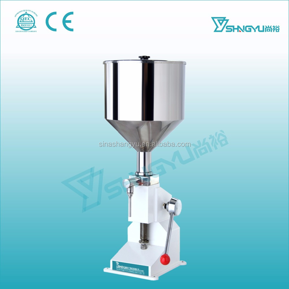 Stainless steel 316L manual cosmetic liquid cream small volume filling machine