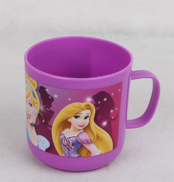 PP 400ml pretty pinted cartoon cup with handle